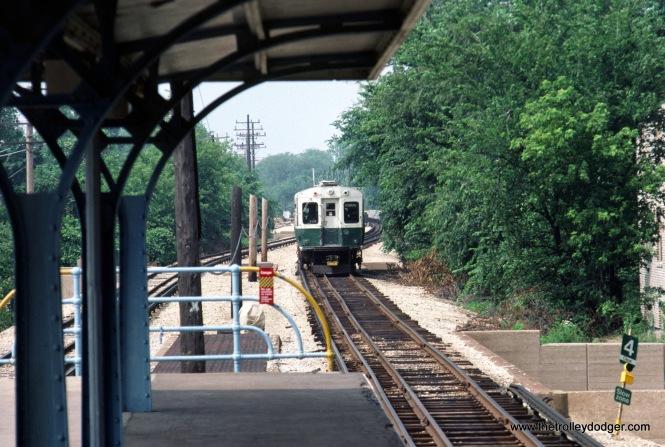 CTA 1-50 series Evanston service n-b at Foster 7-1981