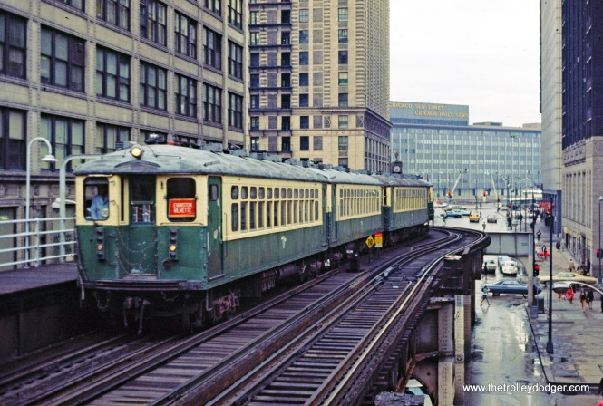 CTA 4000 series Evanston Express Randolph-Wabash 5-1971