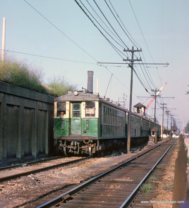 CTA Westbound Lake Street L in Oak Park, IL on August 14, 1962
