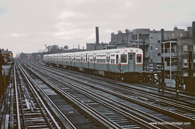 CTA Howard - Englewood A Train southbound at Addison, Chicago, IL on August 25, 1962