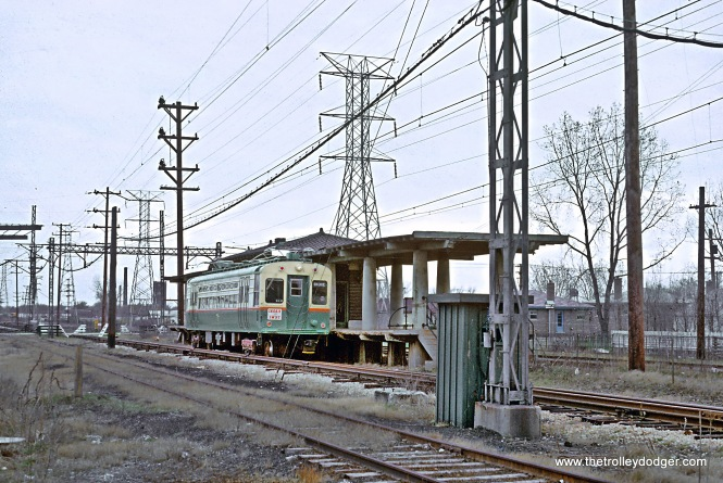 CTA Skokie Swift, Skokie, IL in May 1964 Crawford looking east