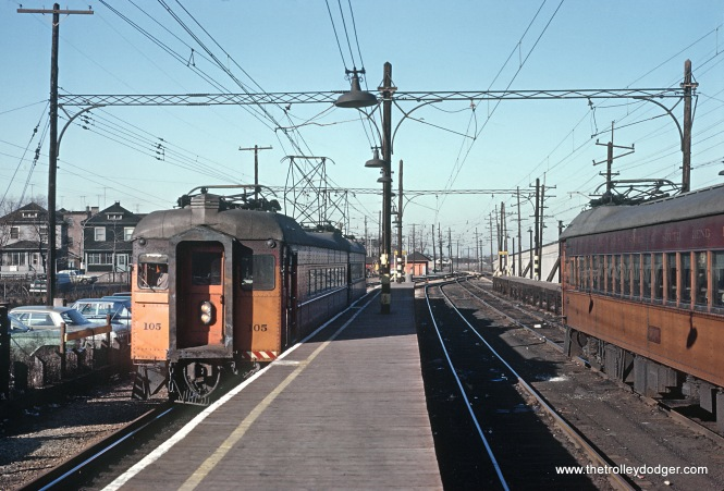 CSS&SD 105 at Gary, IN on January 27, 1964 Chicago South Shore and South Bend