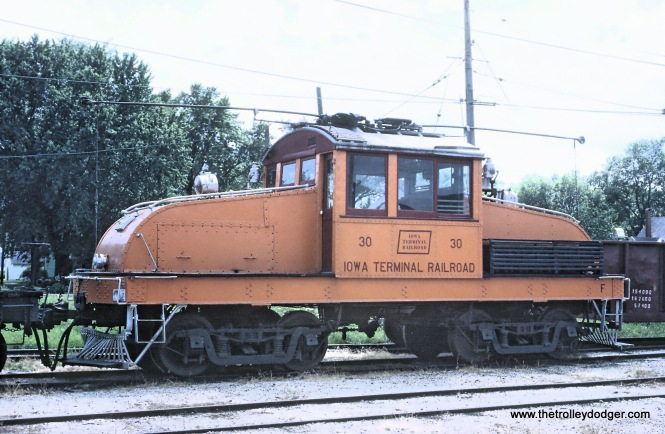 Some Iowa Terminal Railroad Freight Motors -- 4 Photos Roger Puta took these August 12 and 13 of 1967. Steeple Cab 30 in yards at Charles City, IA