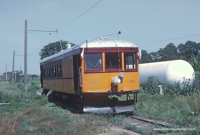 Iowa Terminal Railroad Car 101 near Oakwood Photograph taken by Roger Puta the weekend of August 12th and 13th, 1967 in Iowa.