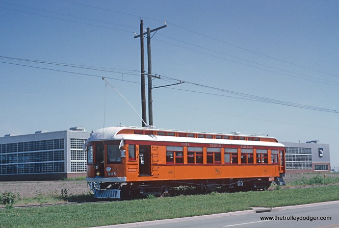 Iowa Terminal Railroad Car 100 at West Mason City Photograph taken by Roger Puta the weekend of August 12th and 13th, 1967 in Iowa.