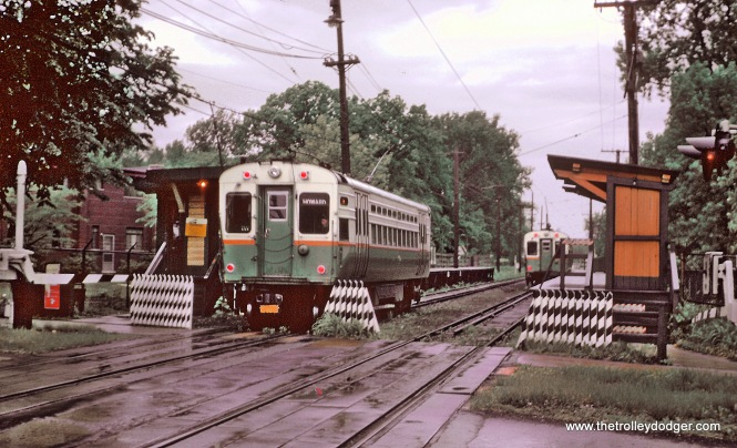 Chicago Transit Authority's Evanston Shuttle at Isabella station in Evanston, IL on May 26, 1962