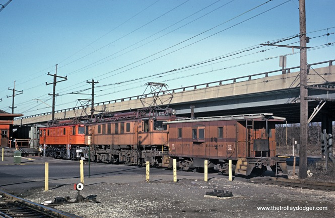 Two CSS&SB 700s (ex-NYC) on a caboose hop approaching the Gary, Ind. depot in January 1964.