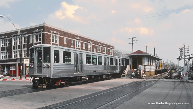 CTA 2240 at Laramie on the Douglas Line in April 1985