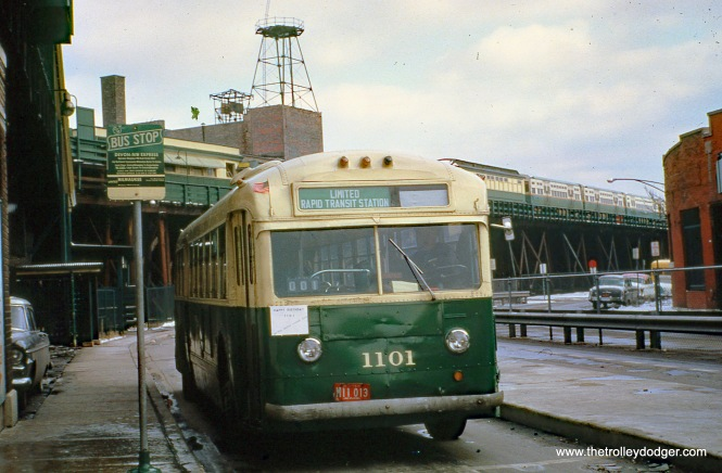 CTA 1101 OSA fan trip Logan Square 10-10-1961 Richard Kaplan Photo