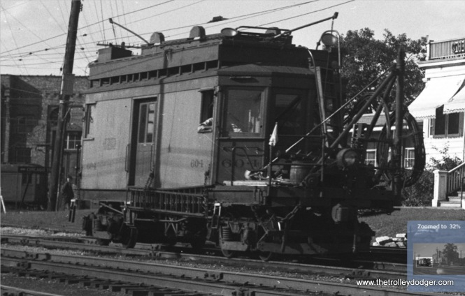 "A close-up of the previous image. Don's Rail Photos: ""604 was built by the C&ME in 1914. It was acquired by IRM in 1963."""