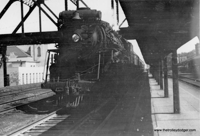 Wabash #21 Blue Bird at 63rd Street (Little Englewood Station) in July 1947.