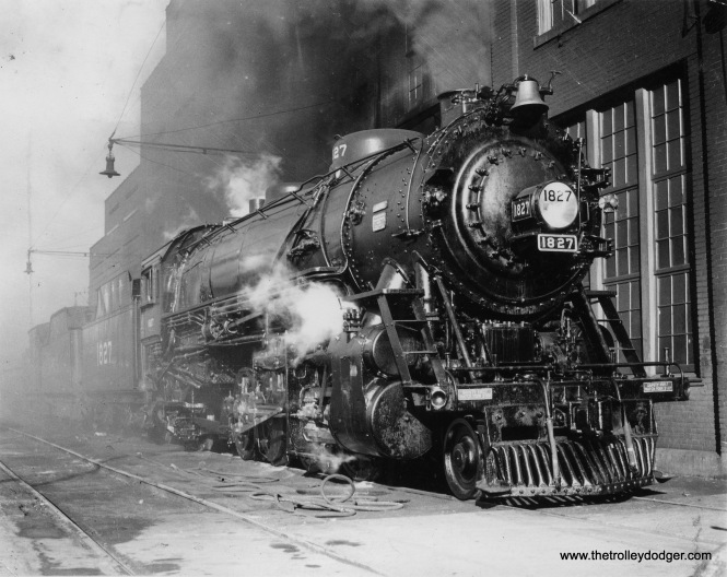 Louisville & Nashville Railroad freight engine #1827 after being overhauled at the South Louisville Shops.