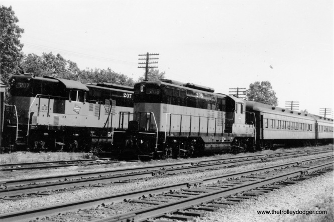 Milwaukee Road passenger trains at Fox Lake, IL.