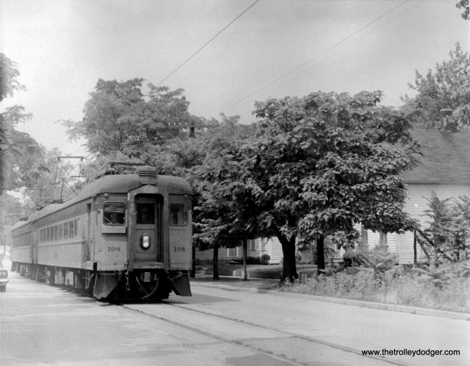 South Shore Line 108 in Michigan City.