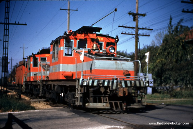 CA&E 2001 and 2002 in Lombard in October 1955.