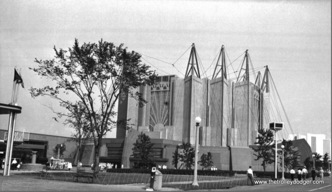 I recently purchased this original medium format negative of the Travel and Transport Building, one of the most distinctive structures at A Century of Progress, the 1933-34 Chicago World's Fair.